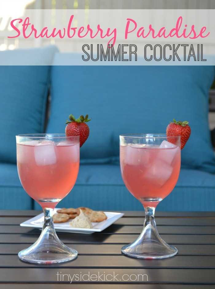 Summer Mixed Drinks With Vodka  Strawberry Paradise Cocktail Recipes