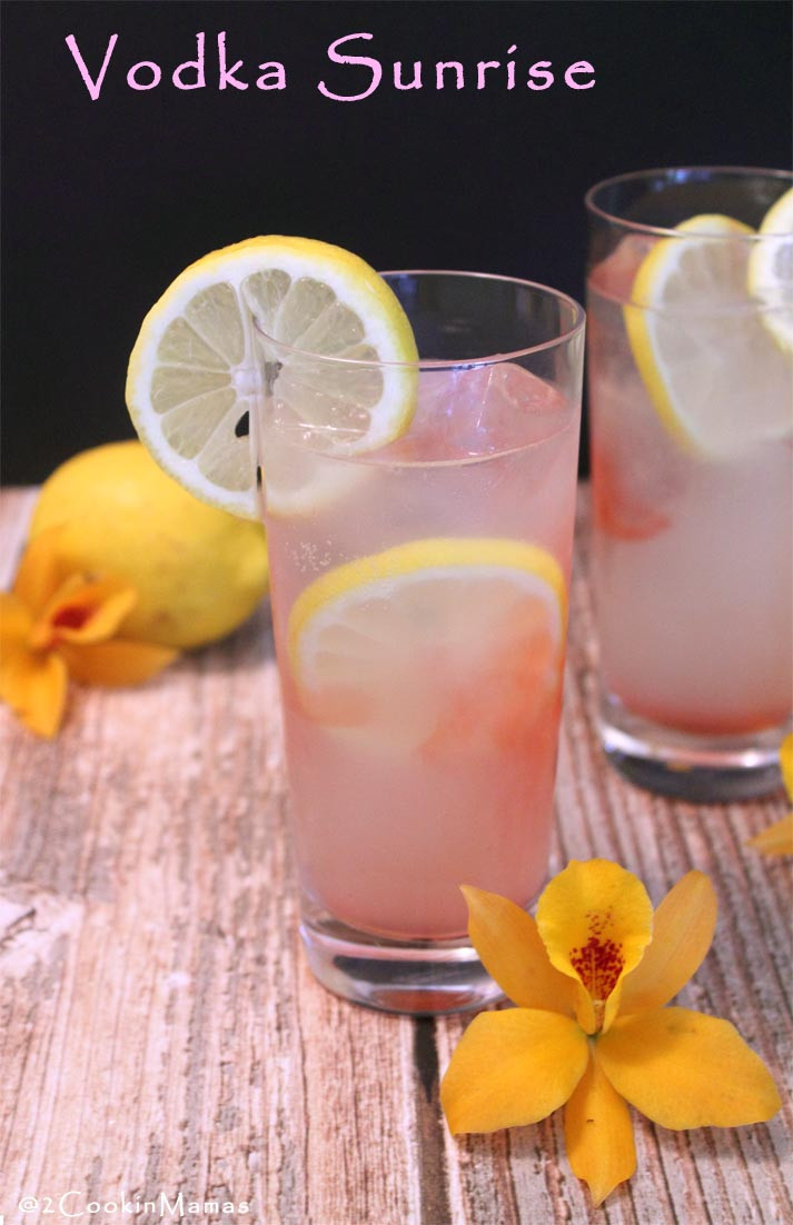 Summer Mixed Drinks With Vodka  Vodka Sunrise A Summer Cocktail 2 Cookin Mamas