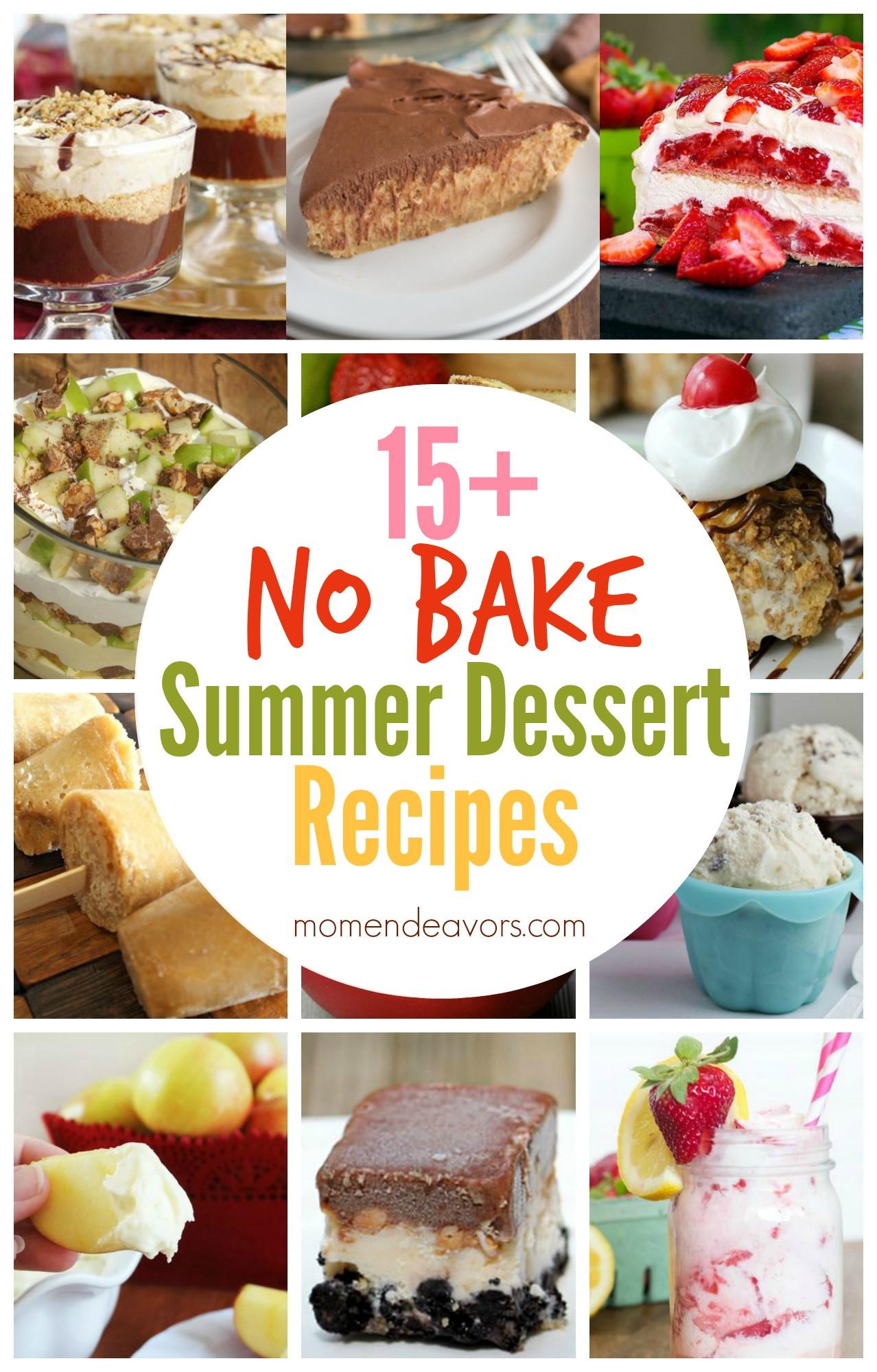 Summer No Bake Desserts  15 No Bake Summer Dessert Recipes