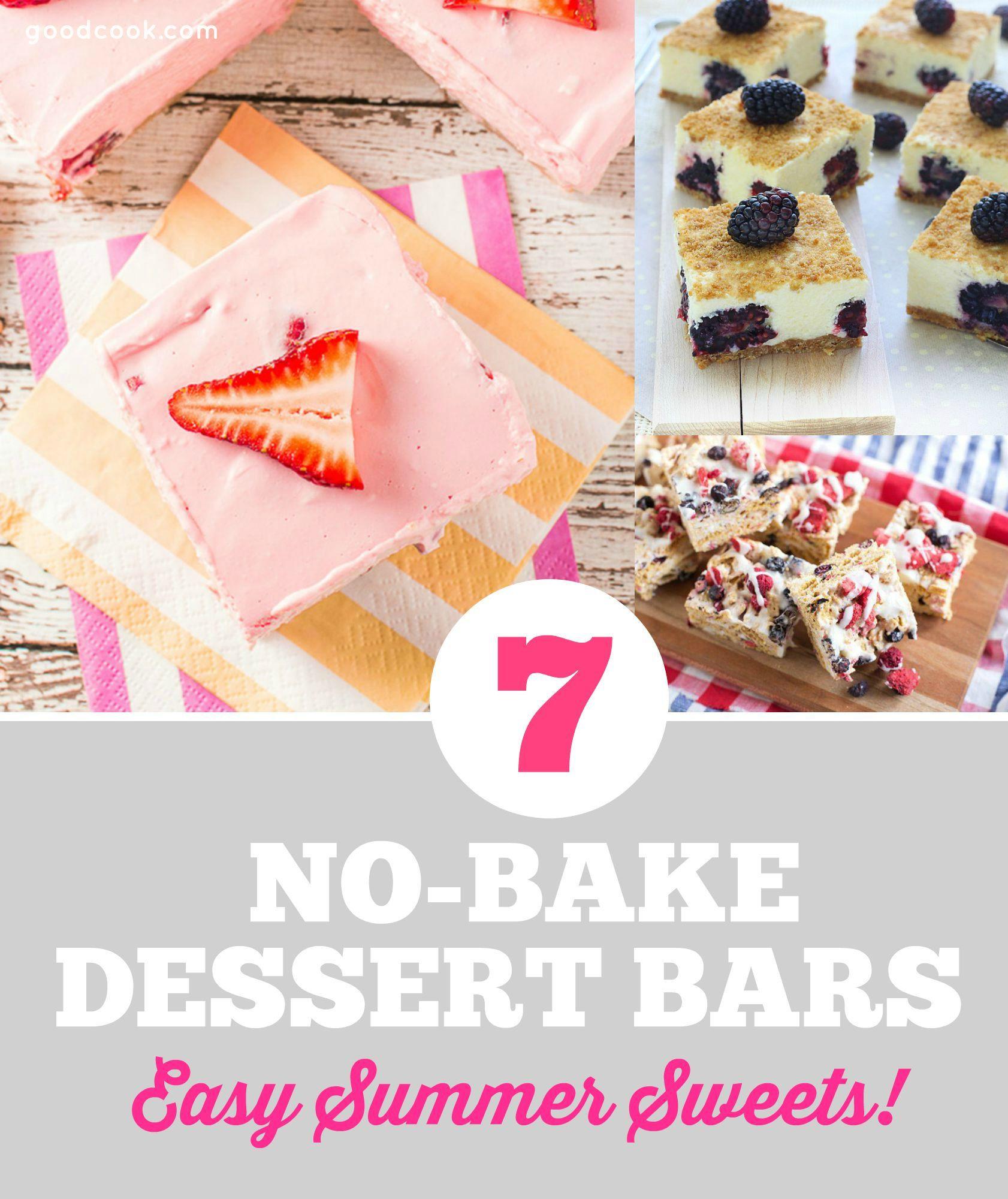 Summer No Bake Desserts  7 No Bake Summer Dessert Bars Everyday Cooking Everyday