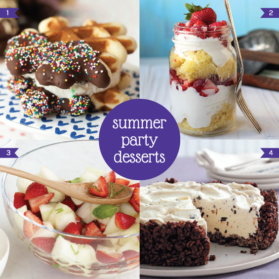 Summer Party Desserts  summer party desserts