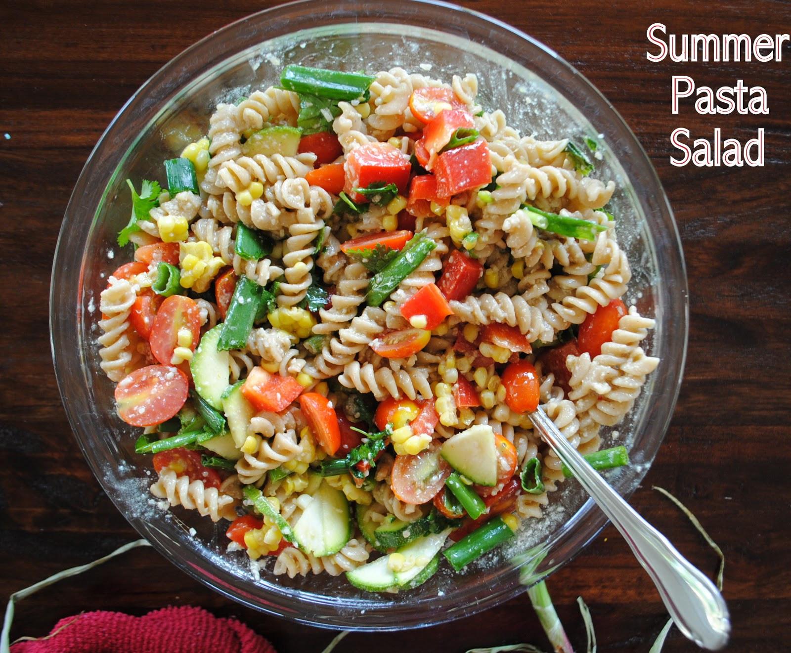 Summer Pasta Salad  ThriceTheSpice Summer Pasta Salad