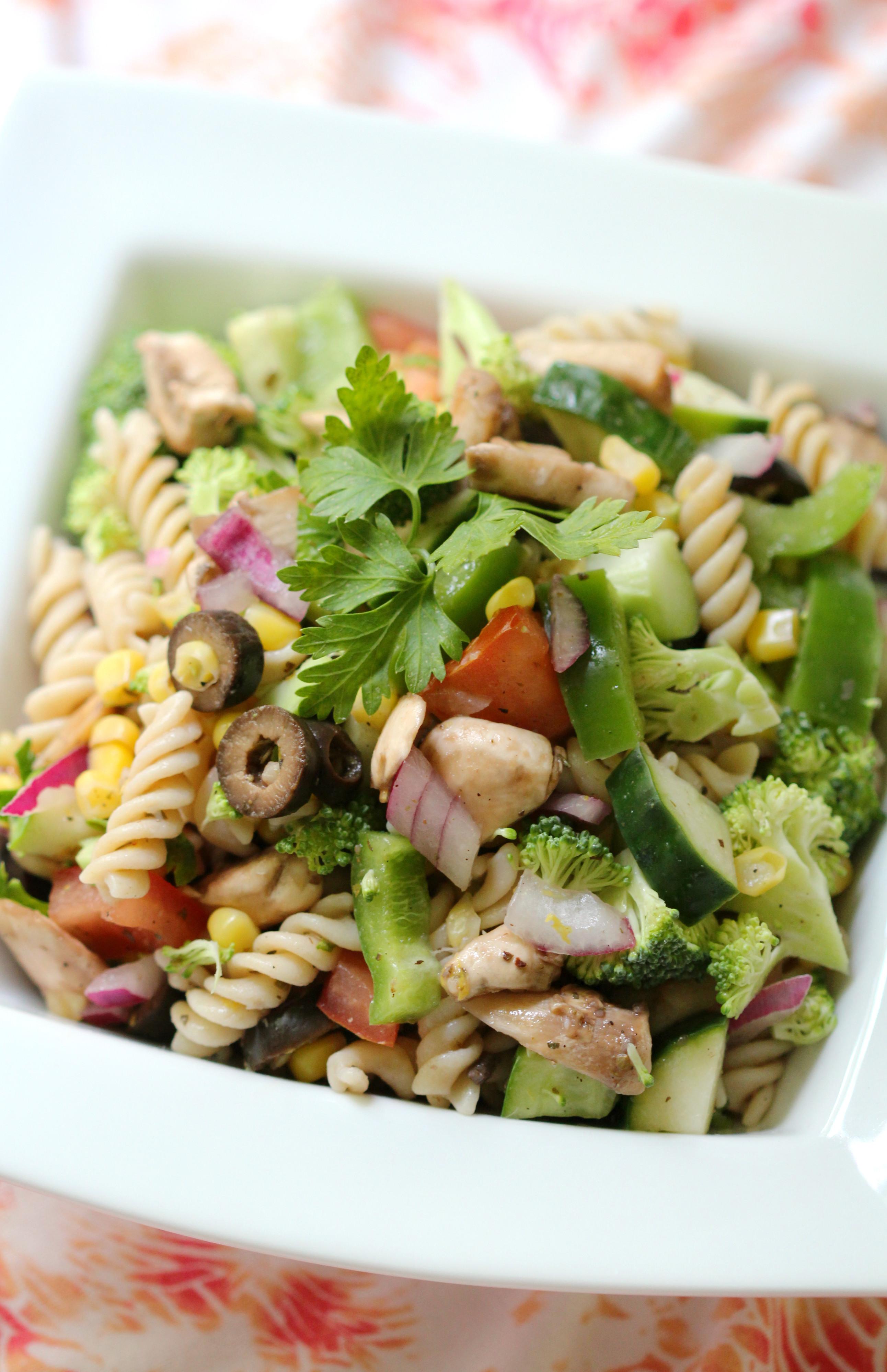 Summer Pasta Salad  Summer Veggie Pasta Salad