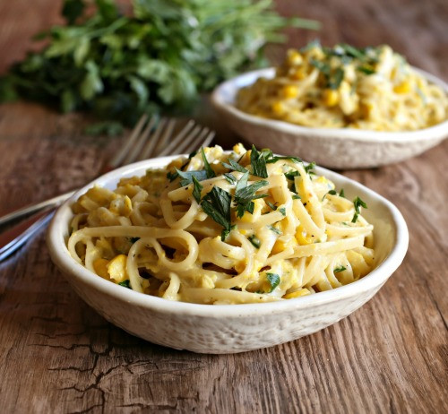 Summer Pasta Sauces  Hungry Couple Late Summer Pasta with Roasted Corn Sauce