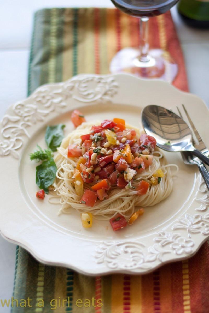 Summer Pasta Sauces  Fresh tomato Summer pasta sauce tomato bruschetta