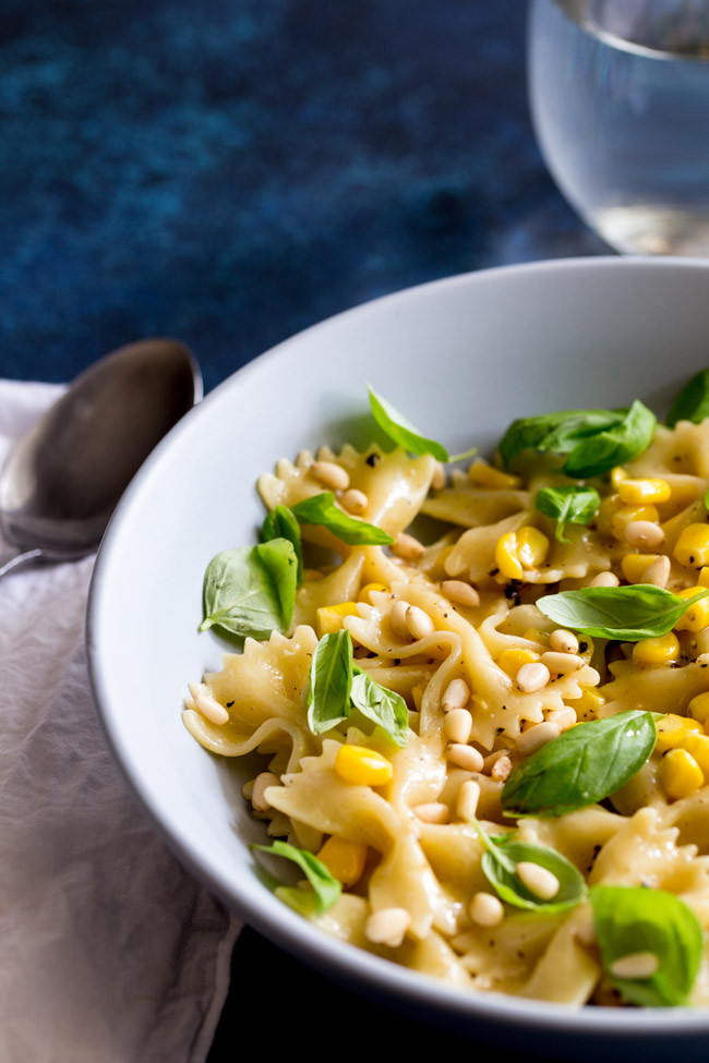 Summer Pasta Sauces  Summer Pasta with Sweet Corn and Basil Easy Pasta Sauces