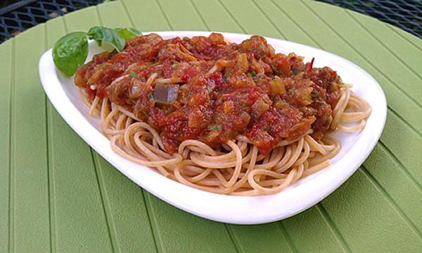 Summer Pasta Sauces  Slow Cooker Summer Pasta Sauce with Fresh Basil