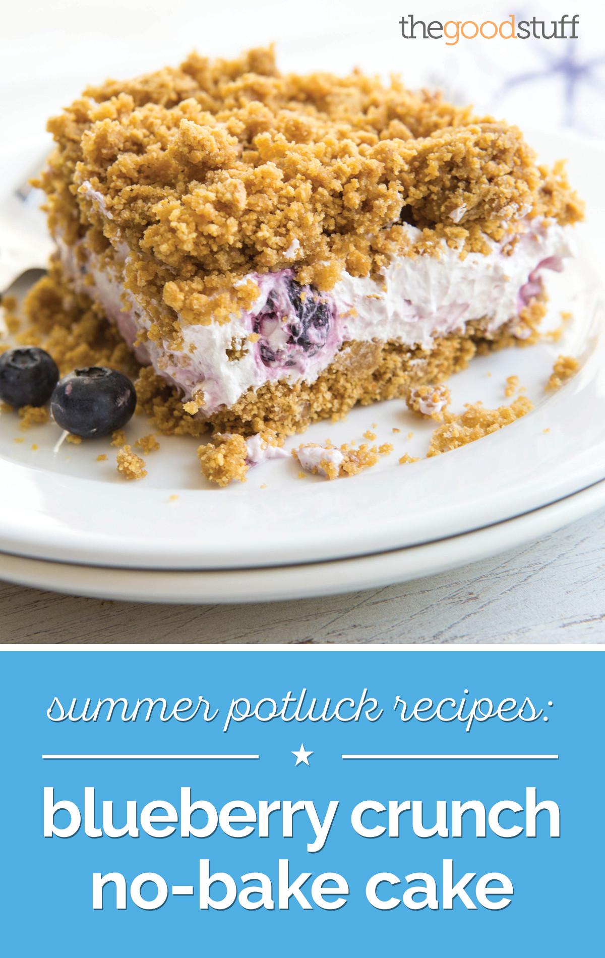 Summer Potluck Desserts  Summer Potluck Recipes Blueberry Crunch No Bake Cake