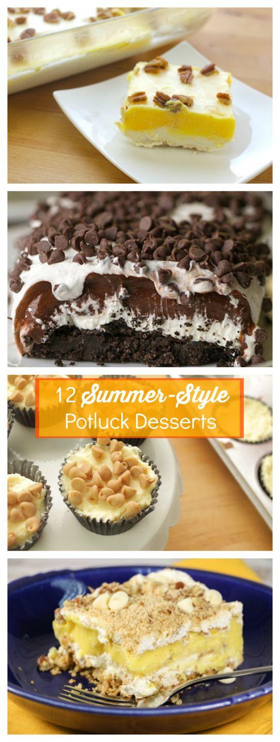 Summer Potluck Desserts  12 Summer Style Potluck Desserts Easy Cookbooks Giveaway