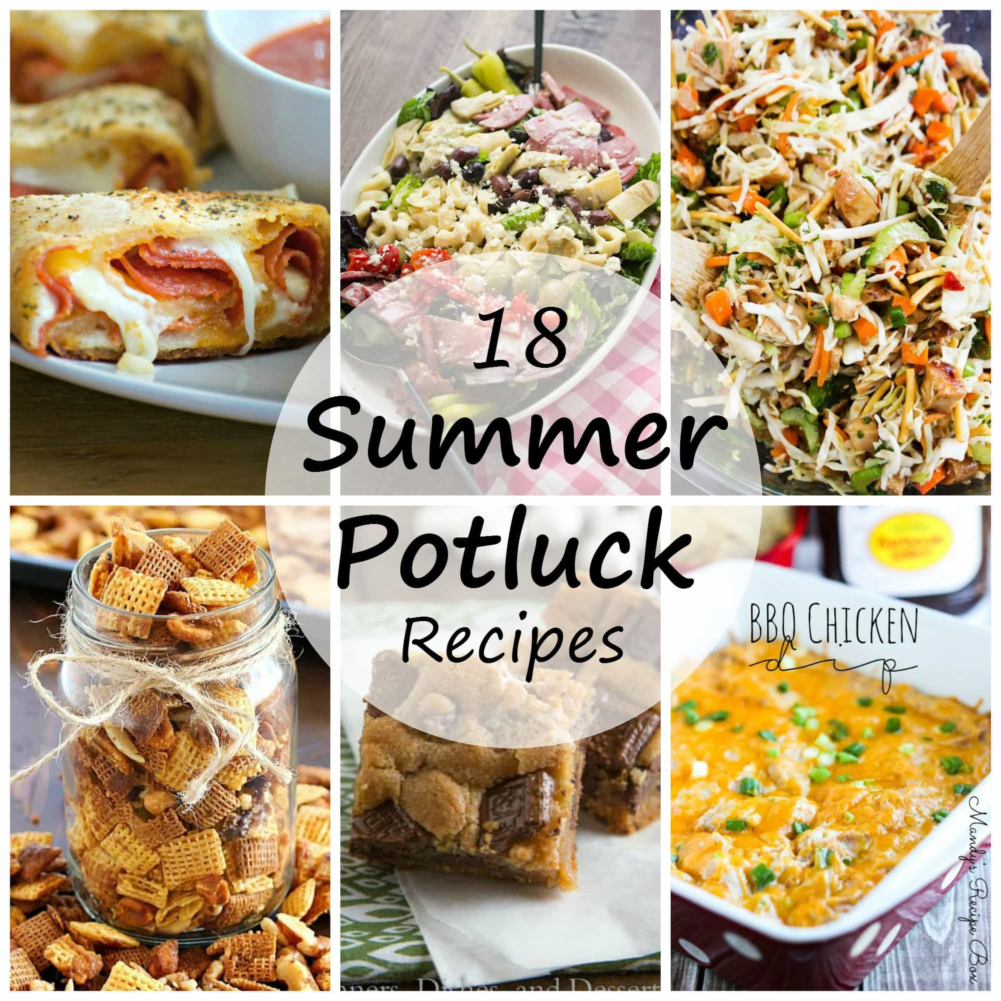 Summer Potluck Main Dishes  Summer Potluck Recipes Dinners Dishes and Desserts