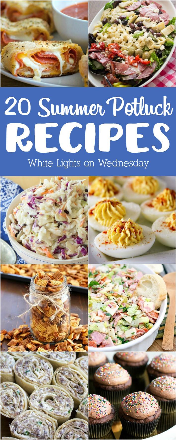 Summer Potluck Main Dishes  20 Summer Potluck Recipes White Lights on Wednesday