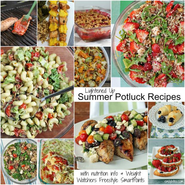 Summer Potluck Main Dishes  Lightened Up Summer BBQ Potluck Recipe Roundup Emily Bites