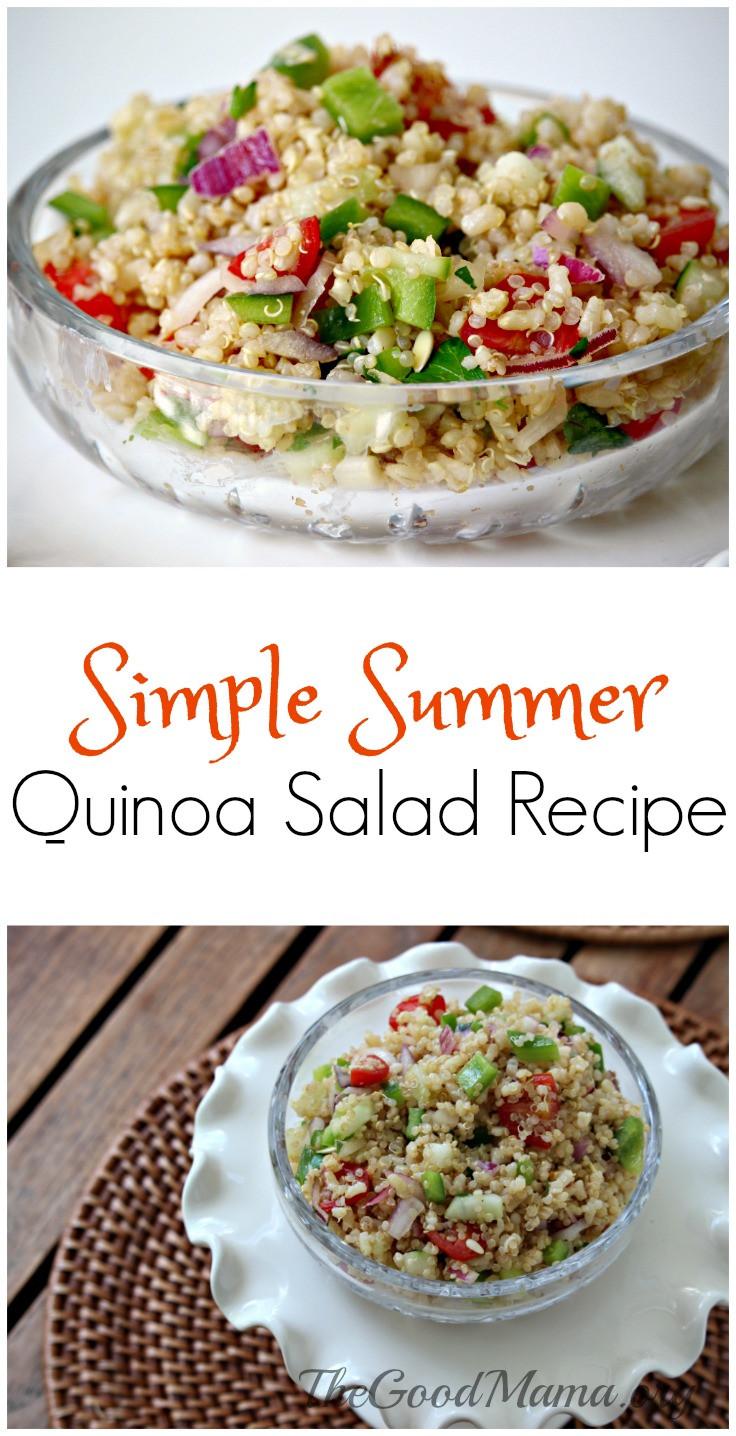 Summer Quinoa Recipes  Simple Summer Quinoa Salad Recipe The Good Mama