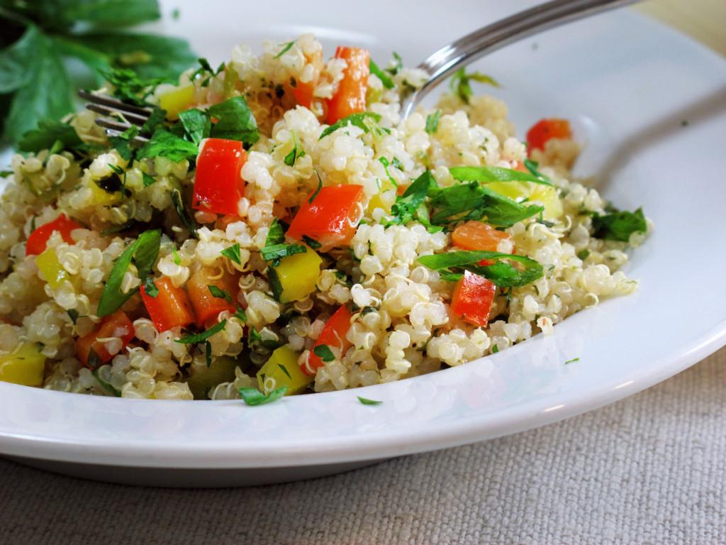 Summer Quinoa Salad  Green Recipe Organic Summer Quinoa Salad Ecocult