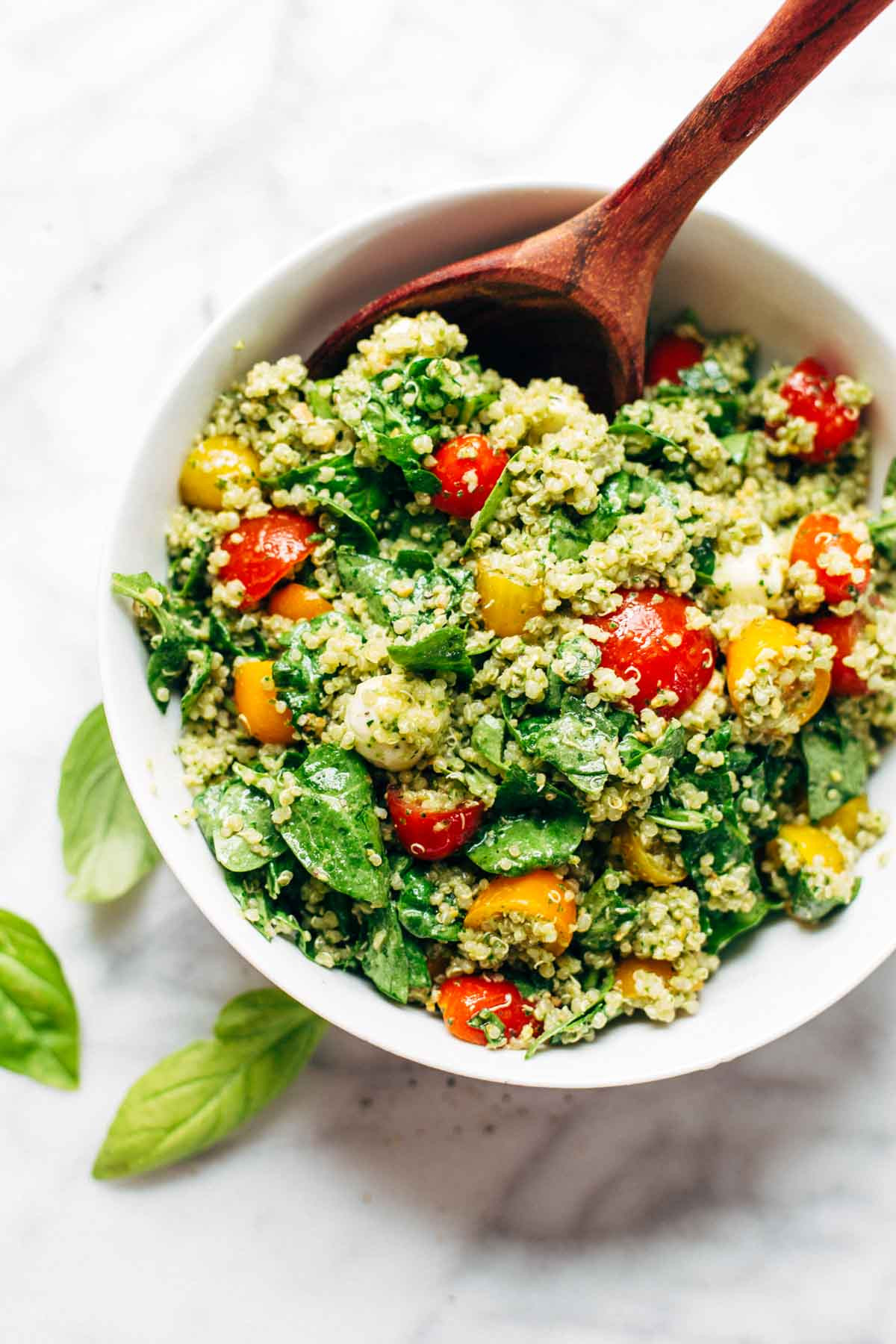 Summer Quinoa Salad  Green Goddess Quinoa Summer Salad Recipe Pinch of Yum