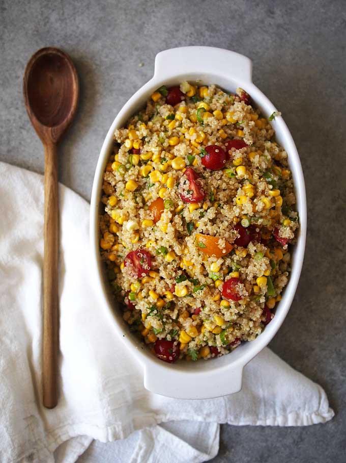 Summer Quinoa Salad Recipe  Summer Corn Quinoa Salad Recipe – The Kitchen Paper