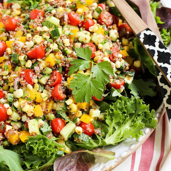Summer Quinoa Salad Recipe  Summer Quinoa and Veggies Salad with Honey Shallot