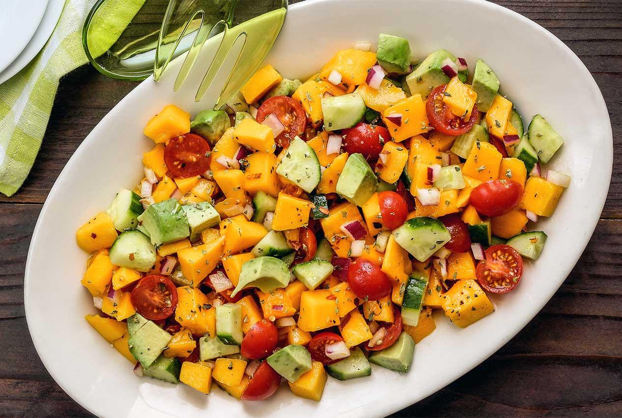 Summer Recipes Indian  Paleo Mango Italian Summer Salad Recipe