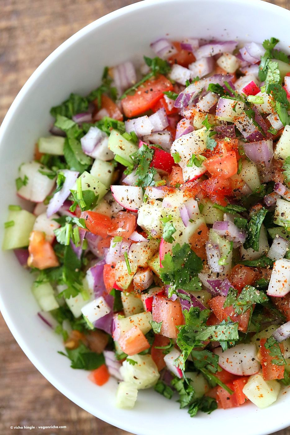 Summer Recipes Indian  Kachumber Salad Cucumber Tomato ion Salad Recipe