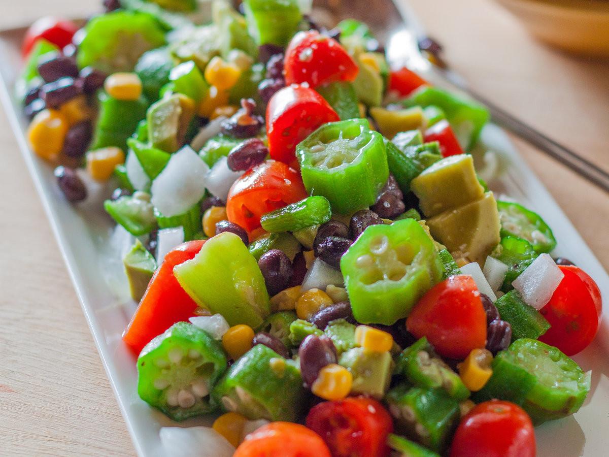 Summer Recipes Indian  Okra Summer Salad Recipe Emily Farris