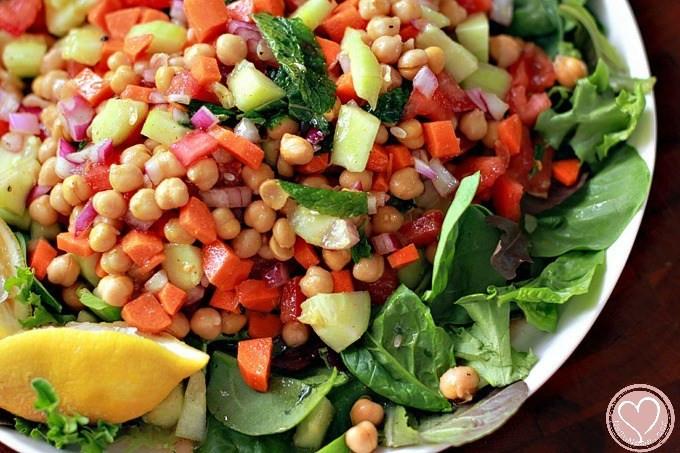 Summer Recipes Indian  Indian Garbanzo Bean Summer Salad Recipe De Su Mama
