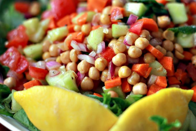 Summer Recipes Indian  Indian Garbanzo Bean Summer Salad Recipe