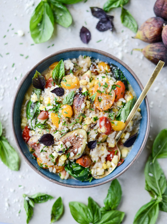 Summer Risotto Recipes  Late Summer Risotto with Roasted Tomatoes Corn and Figs