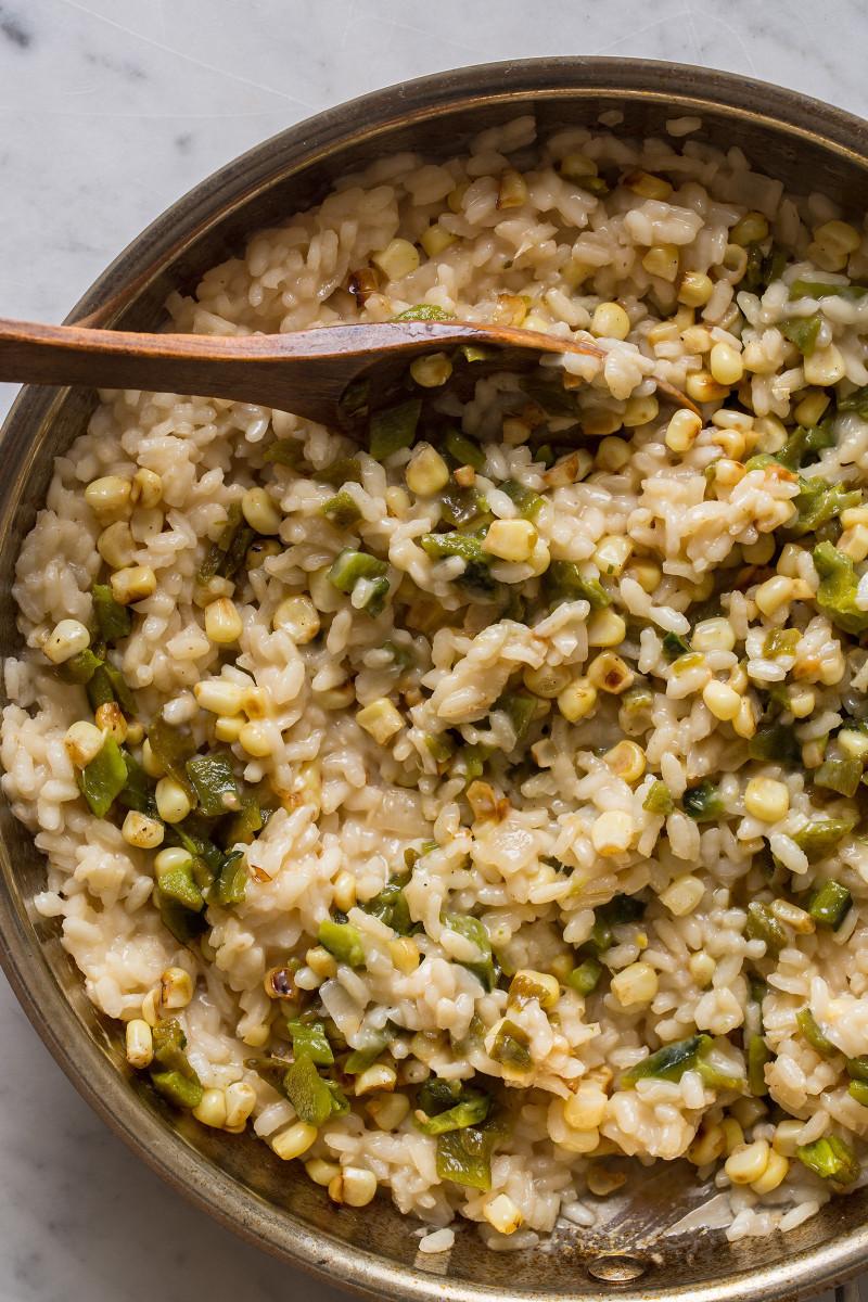 Summer Risotto Recipes  Roasted Corn and Poblano Risotto
