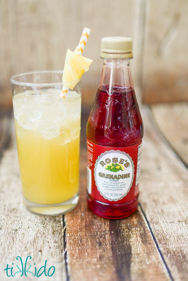 Summer Rum Drinks  Pineapple Coconut Malibu Rum Summer Cocktail Recipe