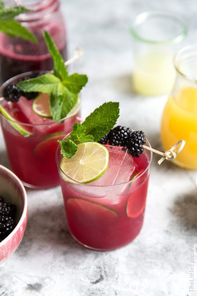 Summer Rum Drinks  Blackberry Pineapple Rum Cocktail The Little Epicurean