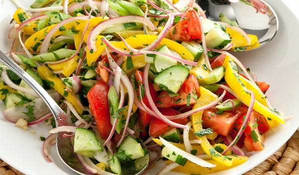Summer Salad Recipes Vegetarian  Summer Ve able Salad In the Kitchen with Stefano Faita