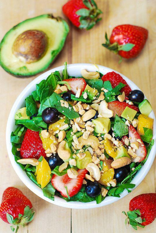 Summer Salad Recipes Vegetarian  Strawberry spinach salad Recipe