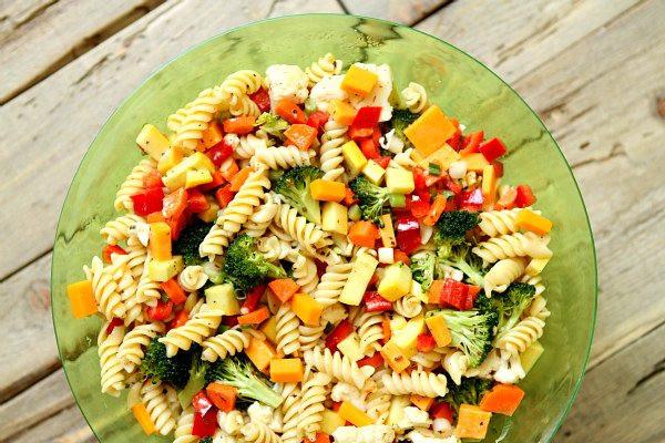 Summer Salad Recipes Vegetarian  Summer Ve able Pasta Salad Recipe Girl