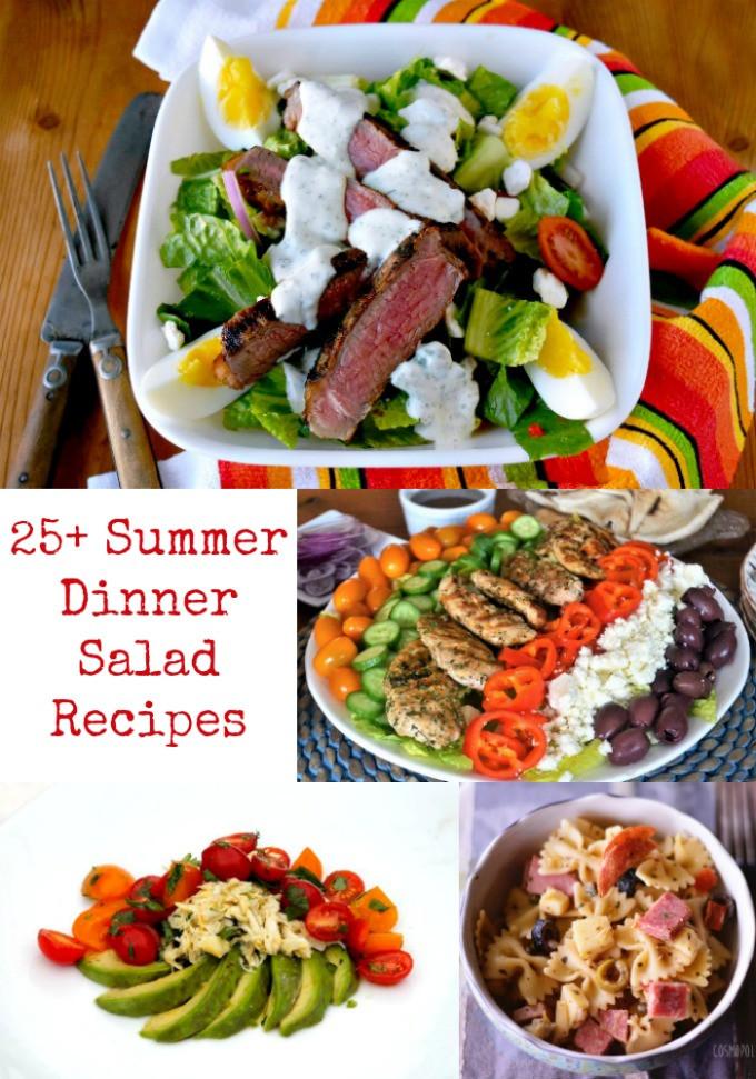 Summer Salads For Dinner  25 Summer Dinner Salad Recipes A Kitchen Hoor s Adventures