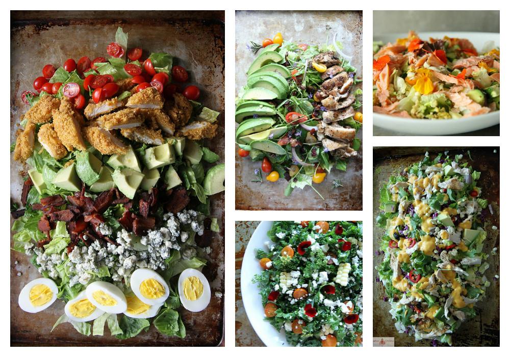 """Summer Salads For Dinner  TOP TEN Summer """"Salad for Dinner"""" Salads…"""