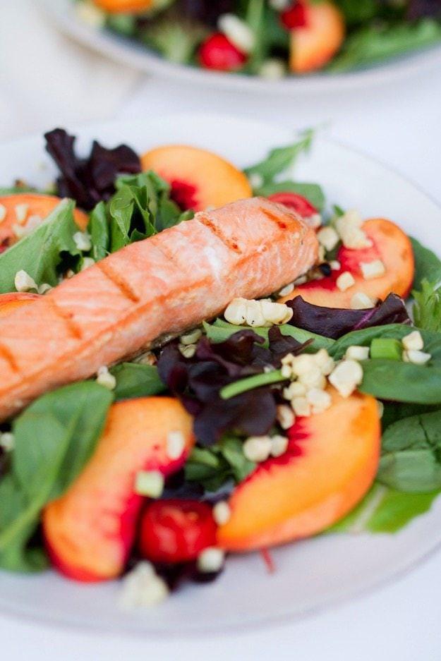 Summer Salmon Salad  Grilled Salmon Summer Salad