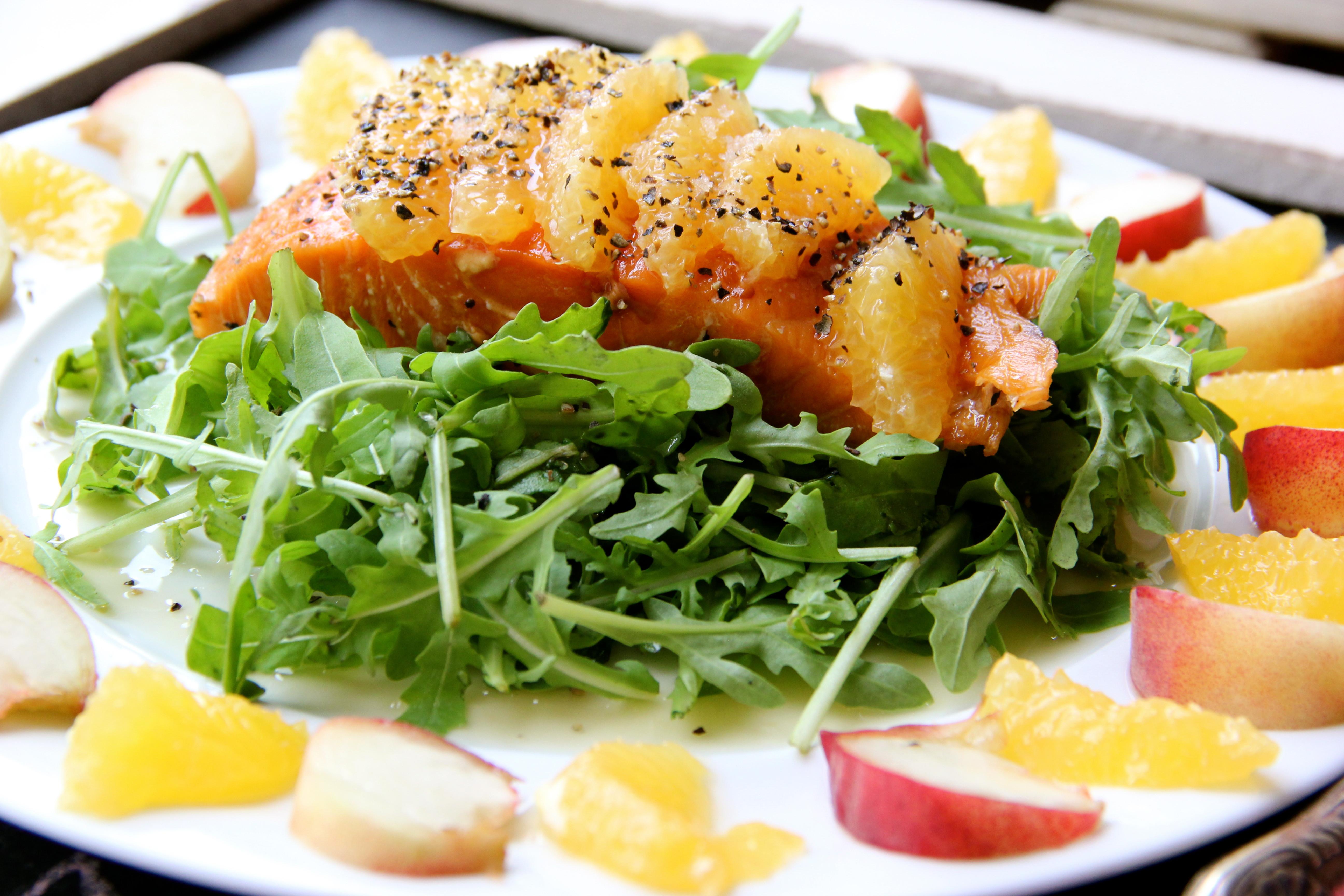 Summer Salmon Salad  Fruity summer salmon salad Paula s Kitchen Table