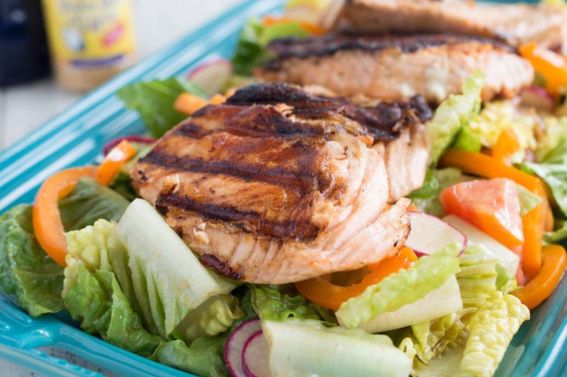 Summer Salmon Salad  Garlic Gold – Organic Garlic Summer Salmon Salad Garlic