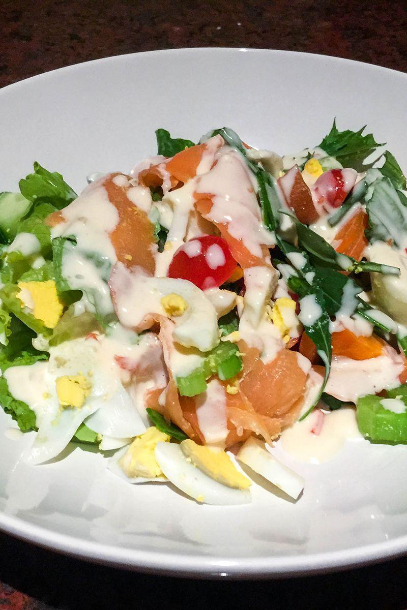 Summer Salmon Salad  Low Carb Summer Salmon Salad Recipe