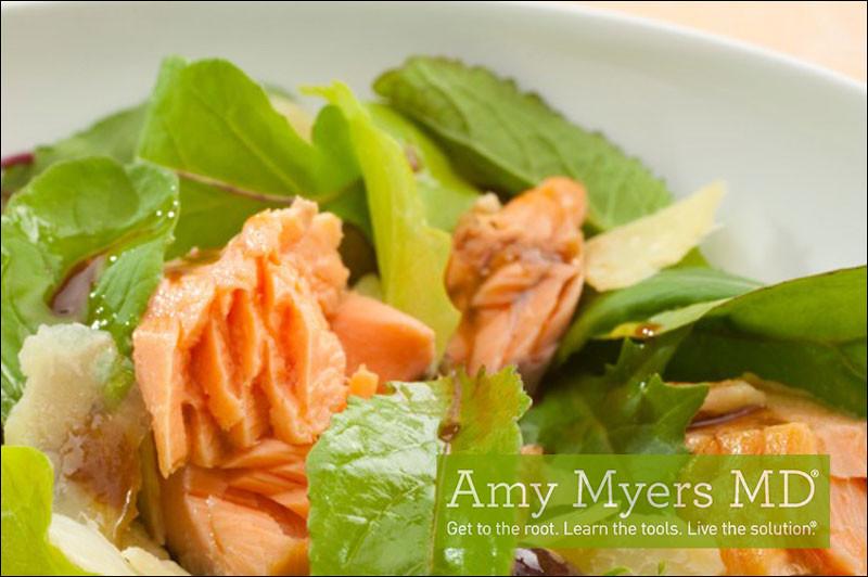 Summer Salmon Salad  Summer Salmon Salad Amy Myers MD