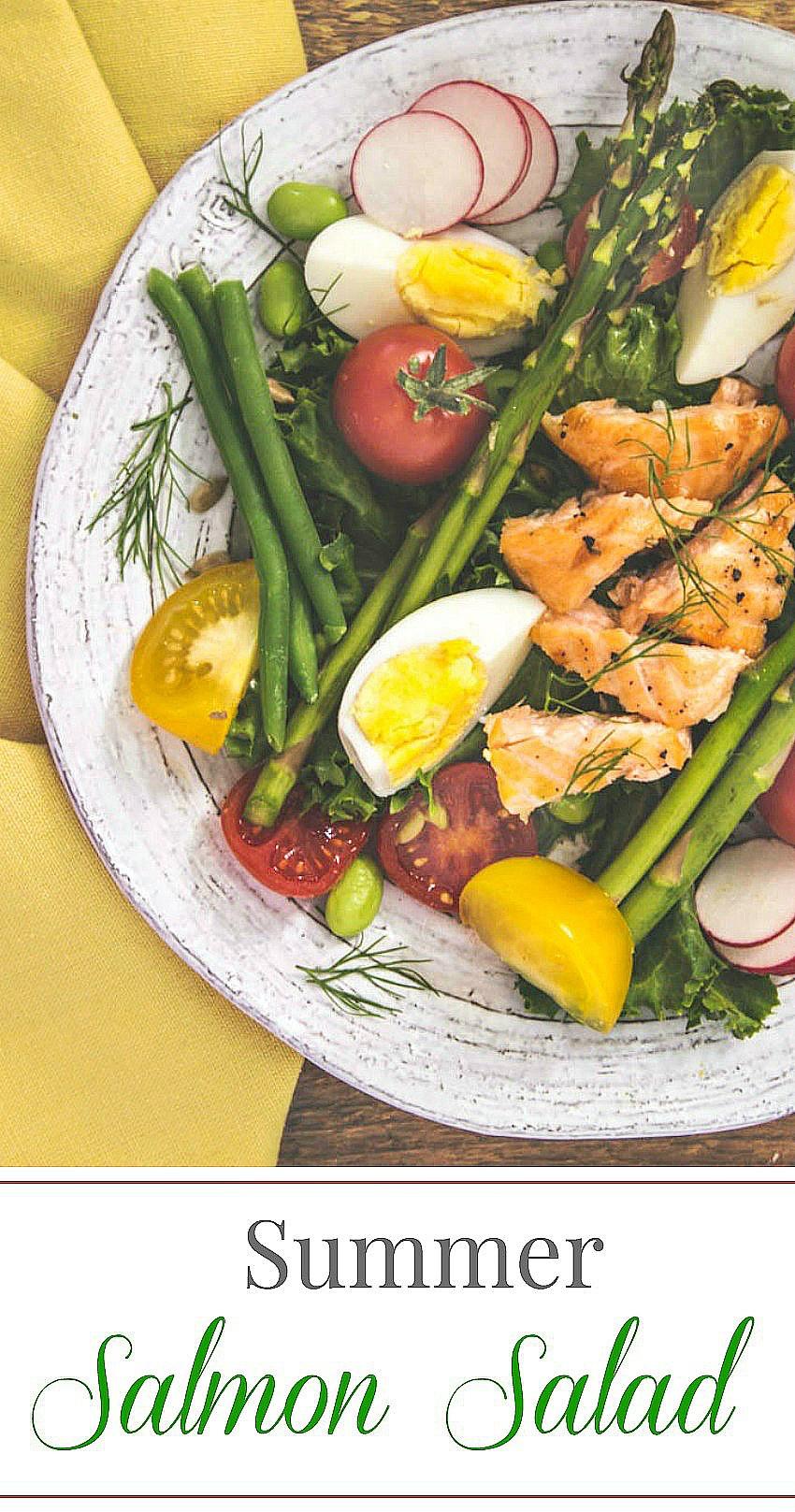 Summer Salmon Salad  Summer Salmon Salad simply fresh dinners