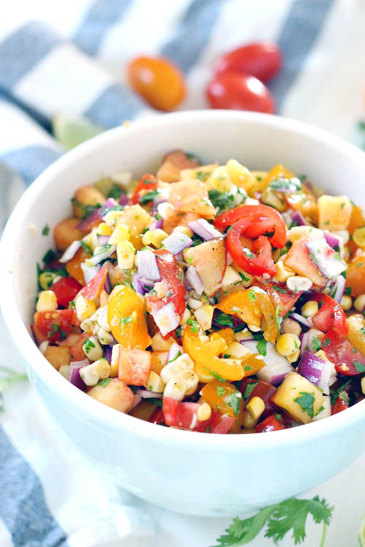 Summer Salsa Recipe  Simple Summer Peach Salsa Bowl of Delicious