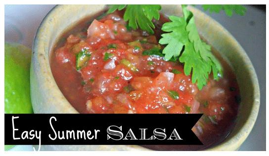 Summer Salsa Recipe  Easy Summer Salsa Recipe Great for Cookouts Kasey Trenum