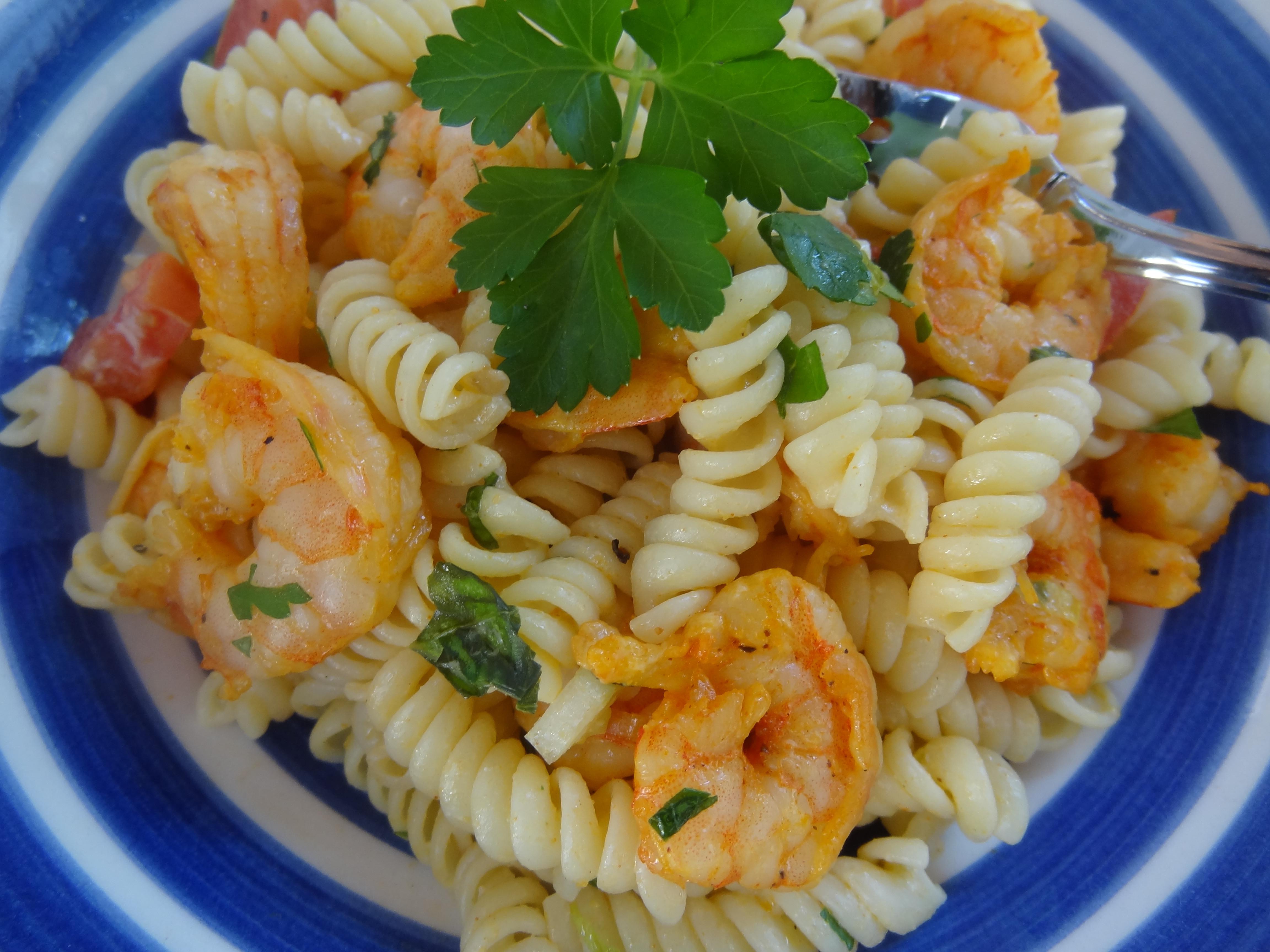 Summer Shrimp Pasta  Summer Spicy Piri Piri Shrimp and Pasta