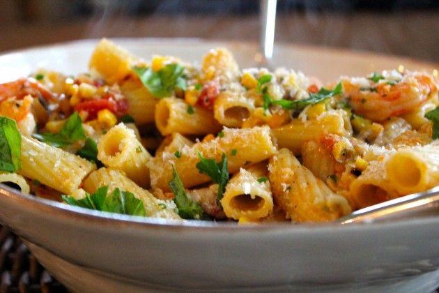 Summer Shrimp Pasta  Summer Veggies With Pasta And Shrimp Recipe — Dishmaps