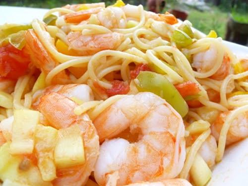 Summer Shrimp Pasta  Cookistry Summer Shrimp Pasta