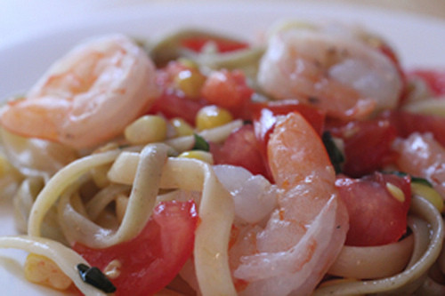 Summer Shrimp Pasta  Summer Shrimp Pasta The Watering Mouth