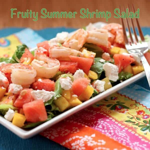 Summer Shrimp Salad  Fruity Summer Shrimp Salad with Strawberry Lime Poppyseed