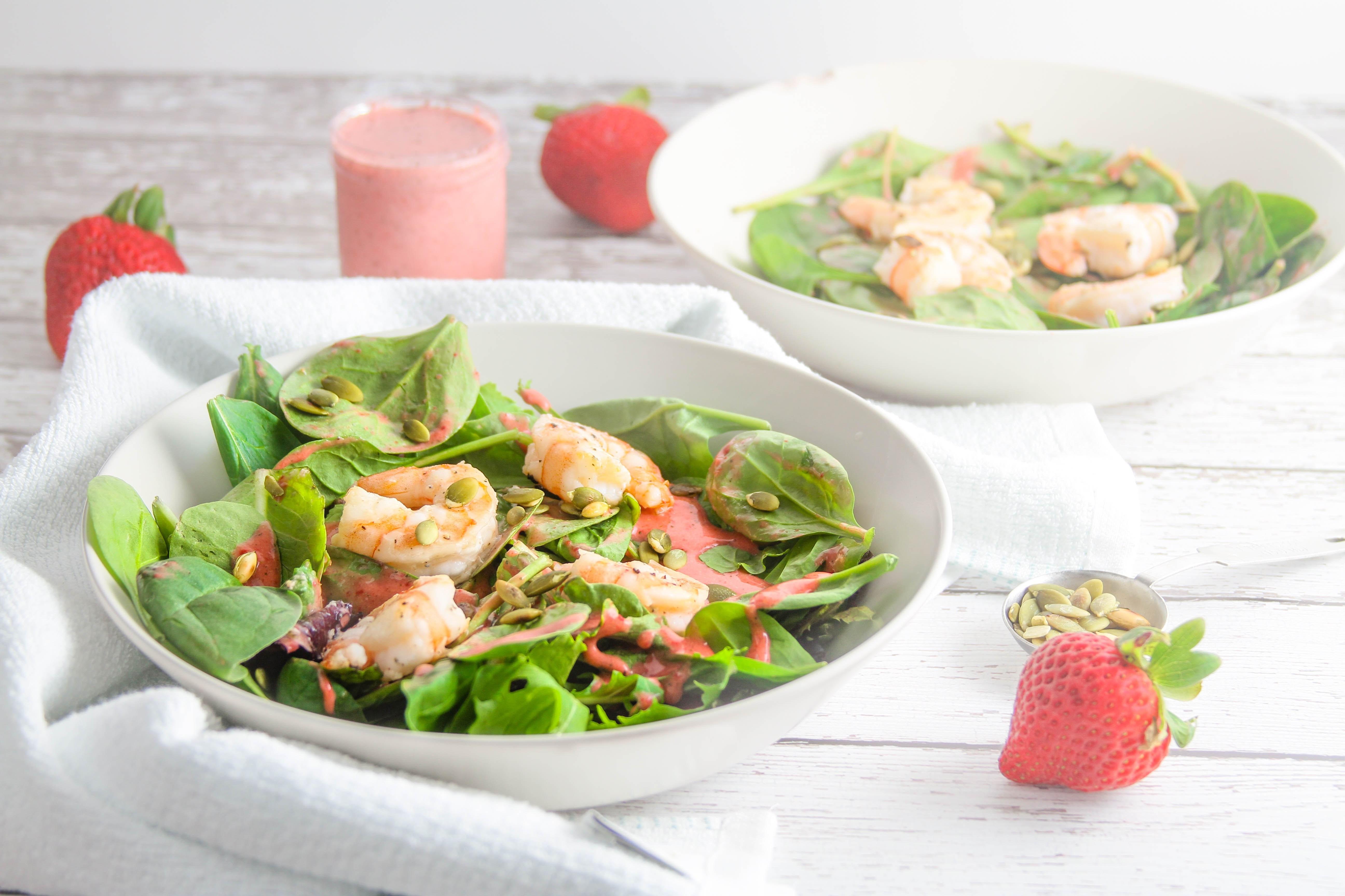 Summer Shrimp Salad  Summer Shrimp Salad With Creamy Strawberry Mint Dressing