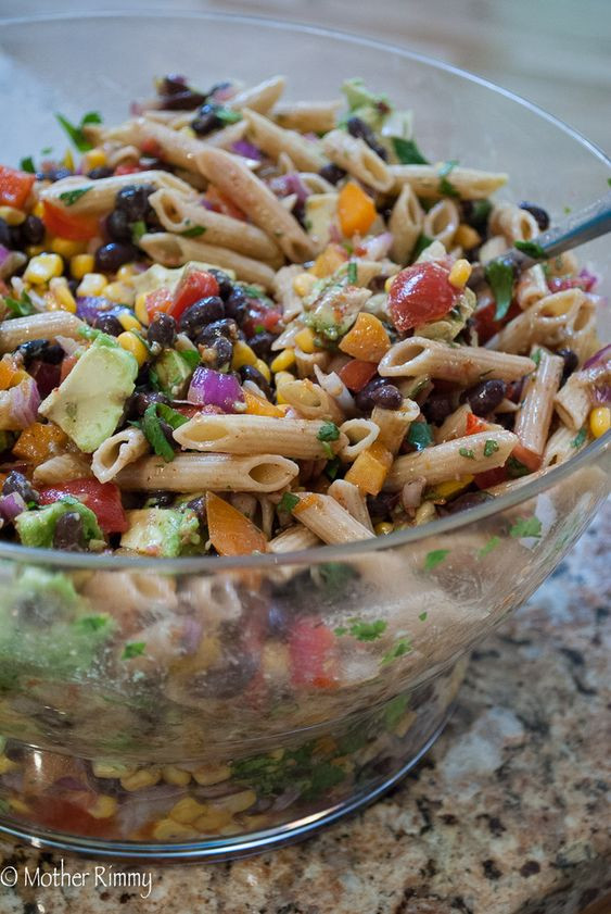Summer Side Dishes For A Crowd  Mexican pasta salads Mexican pasta and Salads for a crowd